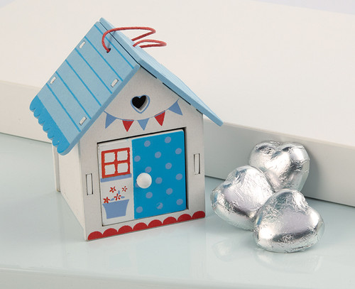 Blue Garden Shed Table Favour 2852