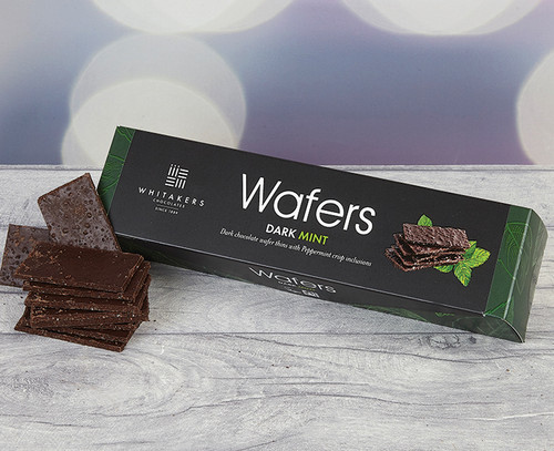Whitakers Dark Chocolate Mint Wafers - Suitable for Vegans