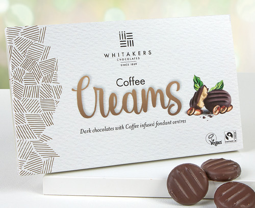 8356 Whitakers Dark Chocolate Coffee Cremes - Suitable for Vegans