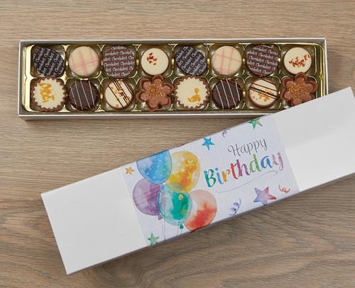 7386 Luxury Box of 16 Belgian Chocolates - Birthday Balloons