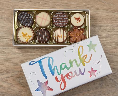 7672 Eight Luxury Chocolates Thank You Stars