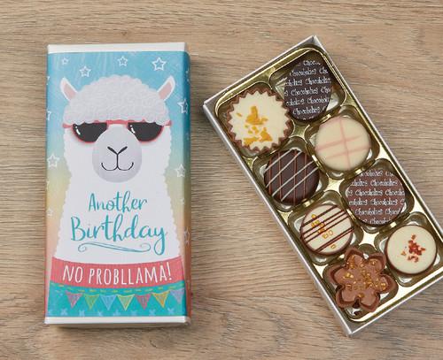 5065 Eight Luxury Chocolates Birthday Llama