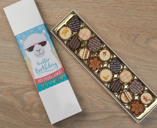 7433 Luxury Box of 16 Belgian Chocolates Llama