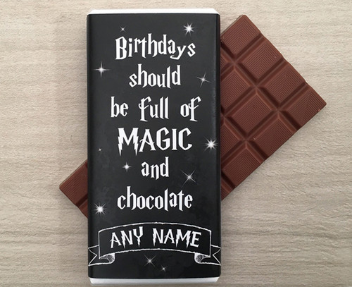 Personalised Birthday Magic Design Milk Chocolate Bar
