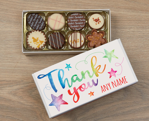 Thank You Stars 8 Luxury Chocolates in a Box