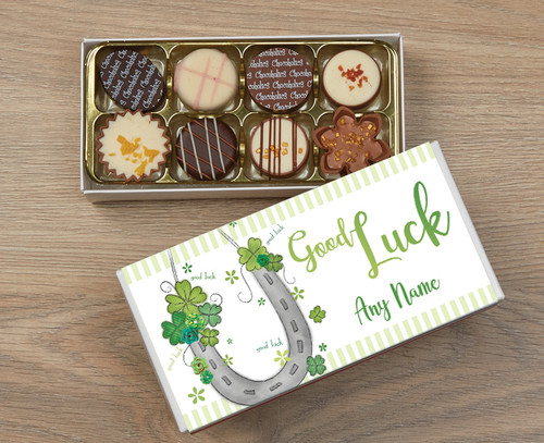 Personalised Good Luck 8 Luxury Chocolates in a Box