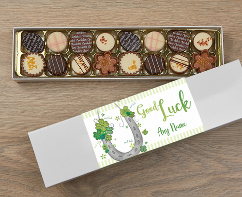 Personalised Good Luck 16 Luxury Chocolates in a Box