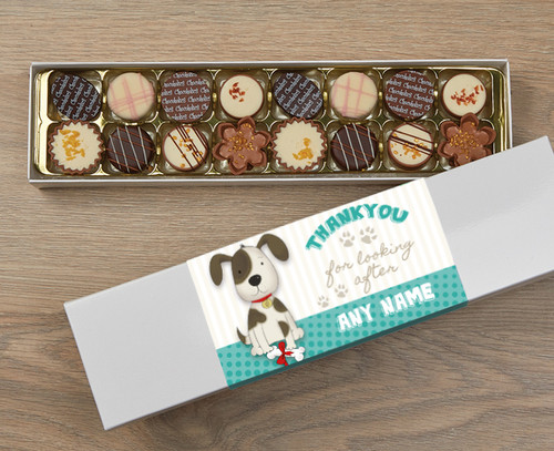 Personalised Thank You Dog 16 Luxury Chocolates in a Box