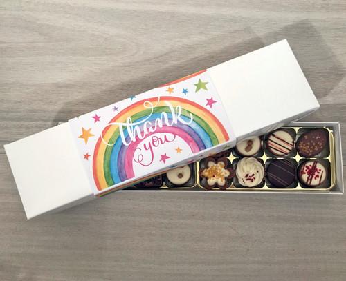 Thank You Rainbow design 16 Luxury Chocolate Box