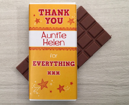 Personalised Thank You chocolate bar 9132