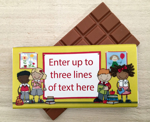 Personalised school chocolate bar for teachers or children 9162