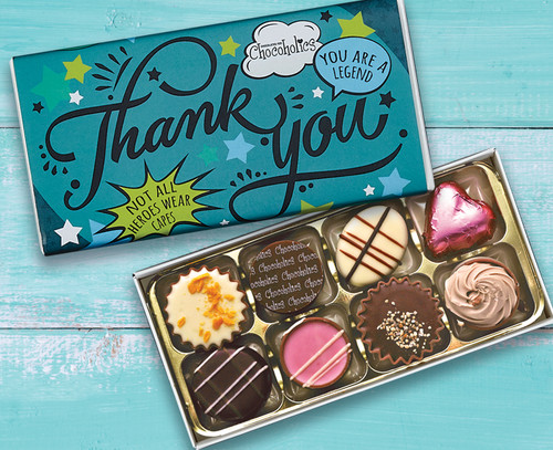 5514 8 Luxury Chocolate Box Teal Thank You design