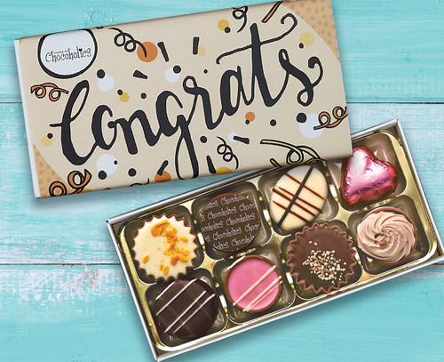 5524 Luxury Box of 8 Belgian Chocolates - Congratulations