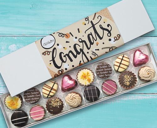 8244 Luxury Box of 16 Belgian Chocolates - Congratulations