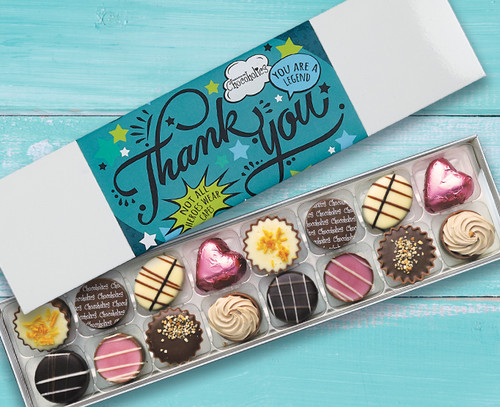 8372 16 Luxury Chocolate Box Teal Thank You design