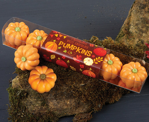 8048 White Chocolate Pumpkins with Praline Filling