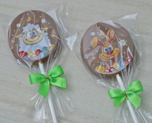 8778 Milk Chocolate Easter Design Lolly