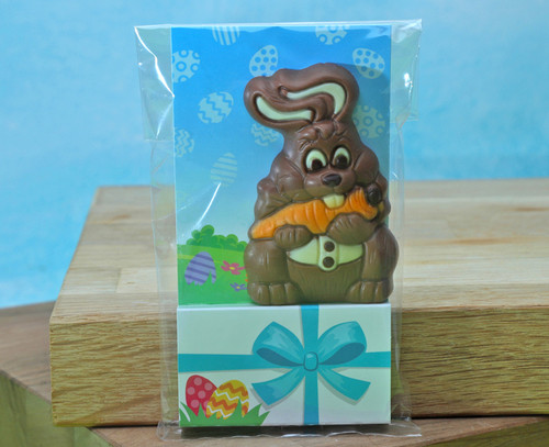 8868 Solid Milk Chocolate Bunny in Pack
