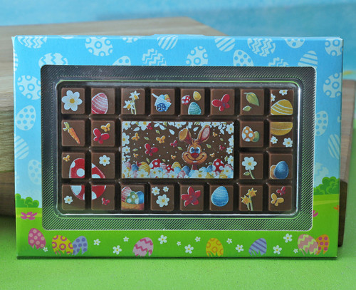 8779 Easter Bunny Chocolate Plaque
