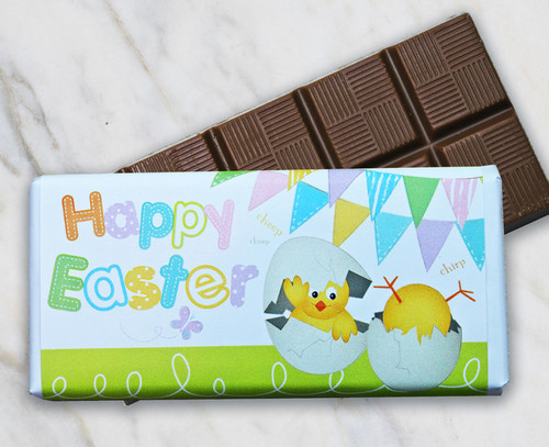 8853 Easter Milk Chocolate 50g Bar with Yellow Chick Design