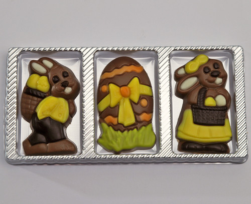 4804 Solid Milk Chocolate Easter Trio Pack