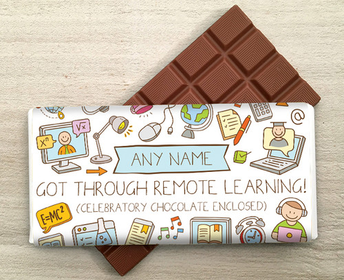 Personalised 'Got Through Remote Learning' 100g Milk  Chocolate Bar 9280