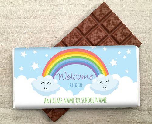 Welcome Back To Personalised 100g Milk  Chocolate Bar 9282