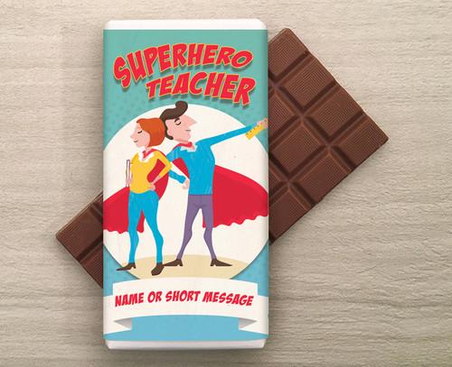 SuperHero Teacher Personalised 100g Milk  Chocolate Bar 9284