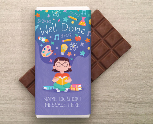 Well Done Personalised 100g Milk  Chocolate Bar 9285