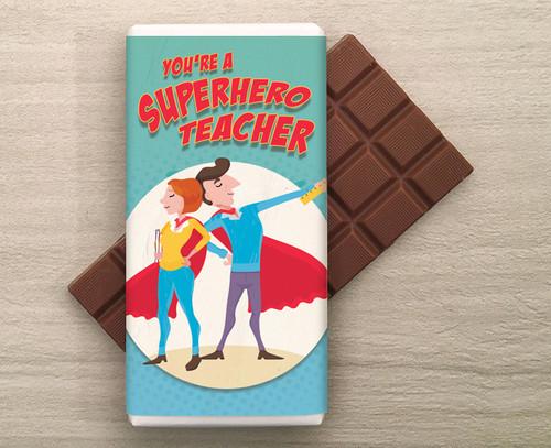 SuperHero Teacher 100g Milk Chocolate Bar 8388