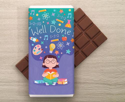 'Well Done' 100g Milk Chocolate Bar 8389