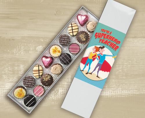 Sixteen Luxury Chocolate Box 'Super Hero Teacher' design - 5762