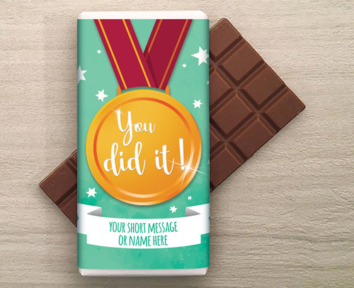 You Did It! Personalised 100g Milk Chocolate Bar 9286