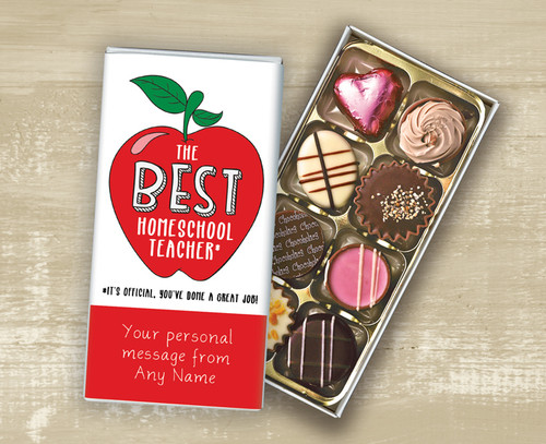 Personalised Eight Luxury Chocolate Box Best Homeschool Teacher design - 9410