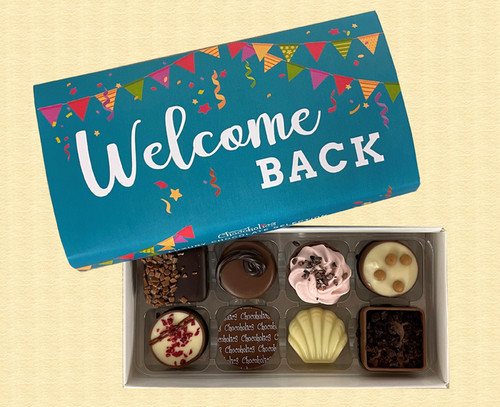Box of 8 Luxury Belgian Chocolates with a Welcome Back wrapper 5856