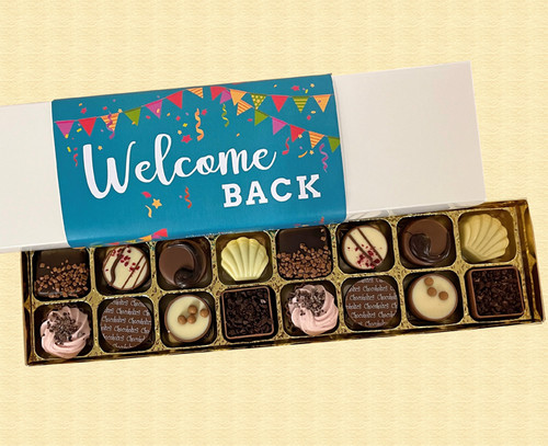 Box of 16 Luxury Belgian Chocolates with a Welcome Back wrapper 5756