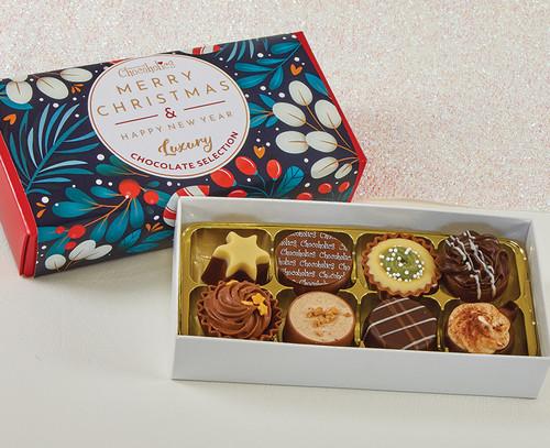6836 Luxury Box of 8 Belgian Chocolates - Merry Christmas