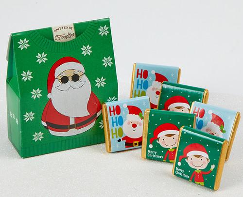5571 Green Santa Jumper Box with milk chocolates