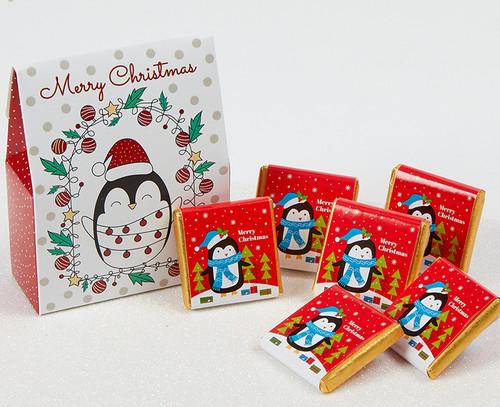 7438 Penguin Box with milk chocolates