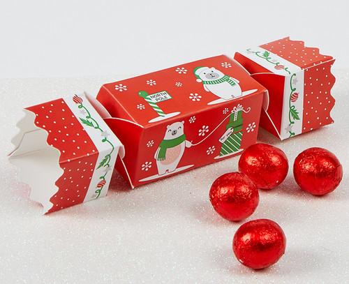 7691 Polar Bear Mini Cracker with milk chocolates