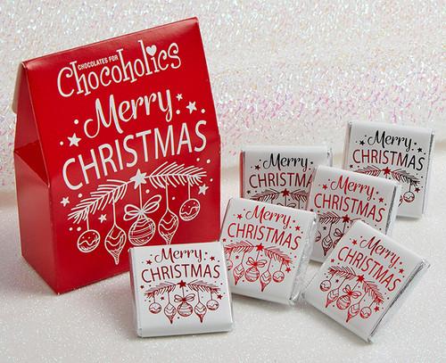 5581 Merry Christmas Red Bauble Box with milk orange chocolates
