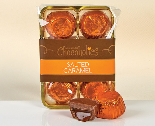 6838 Salted Caramel Chocolates in Foil - Single Variety