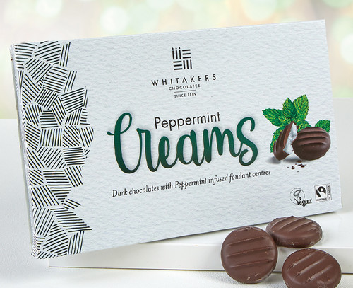 5567 Whitakers Dark Chocolate Peppermint Cremes - Suitable for Vegans