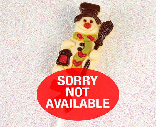 5579 White Chocolate Snowman Lolly