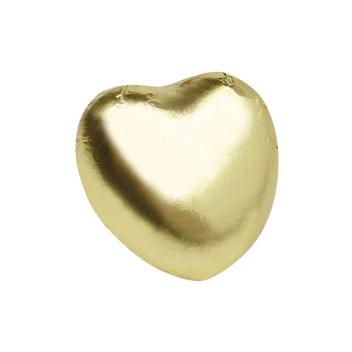 Milk Chocolate Hearts in Gold Foil