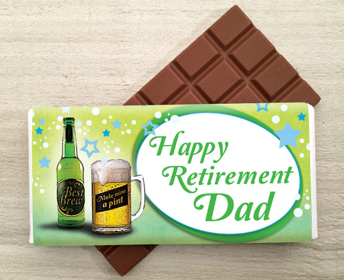 Personalised Pint of Beer design Milk Chocolate Bar