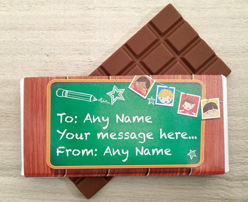 School Message Board design Milk Chocolate Bar