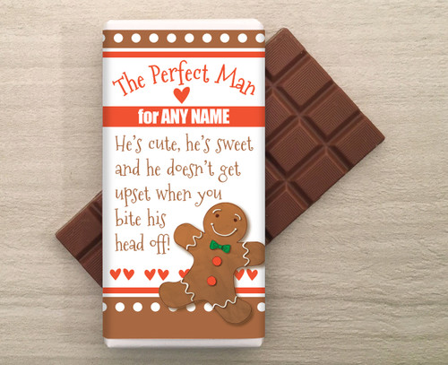 Personalised Perfect Man Chocolate Bar