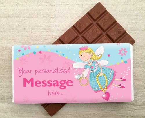 Personalised Fairy design milk chocolate bar from Chocolates for Chocoholics