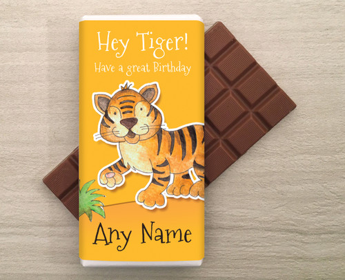Personalised Tiger design Milk Chocolate Bar